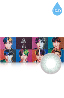 [1Day] BTS IDOL マイセルフ ワンデー グレー (BTS IDOL 1DAY MY SELF GRAY) DIA 14.0mm [1箱30枚]