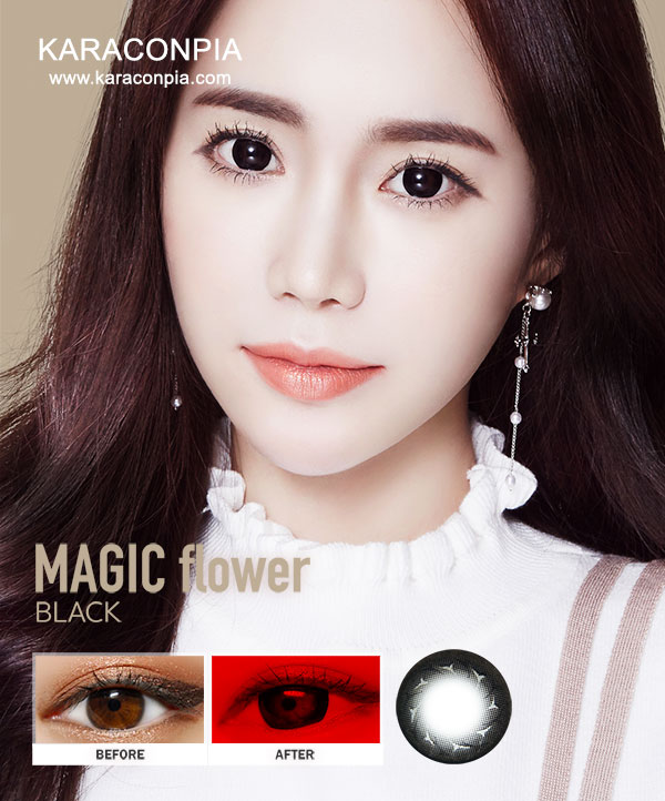 バブルブラック (Magicflower Black) DIA 14.2mm (A056)