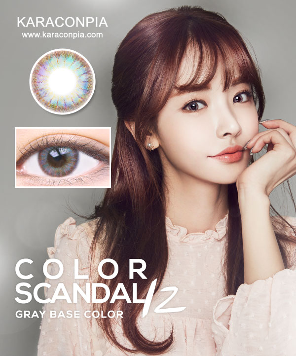 (SCANDAL1+1) カラースキャンダル12グレー(Color Scandal 12 Gray) DIA 14.5mm (期間限定1+1)