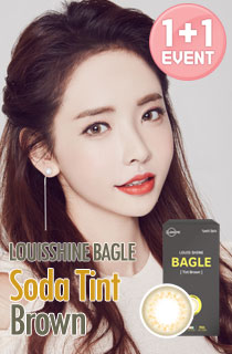 [EVENT][1+1][1ヶ月] ルイシャイベーグルソーダティントブラウン (Louis Shine Bagle Soda Tint Brown) DIA 14.0mm