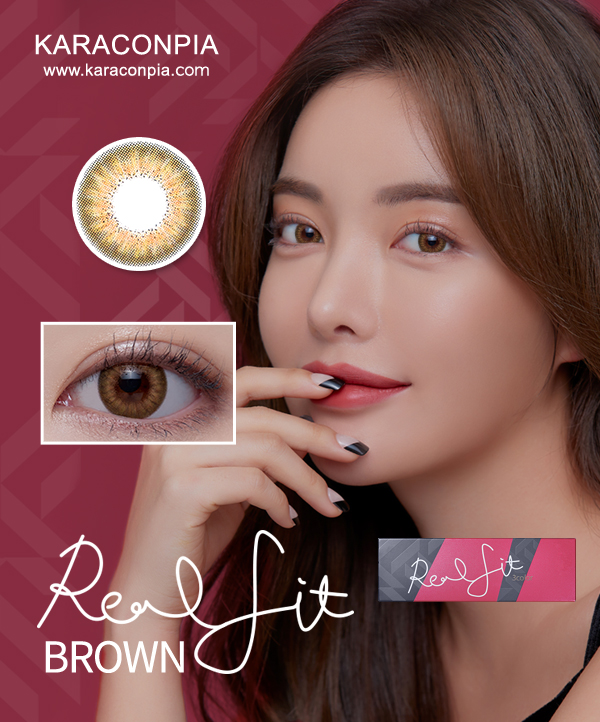 [1Day] AKMA リアルフィット 3カラー ワンデー ブラウン (AKMA Realfit 3 Color oneday Brown) DIA 14.2mm [1箱30枚]